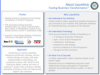 About LiquidHub Fueling Business Transformation ™