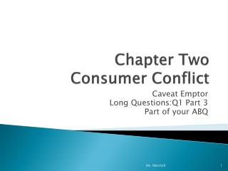 Chapter Two  Consumer Conflict