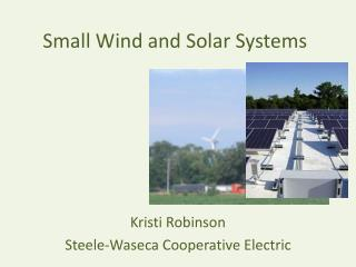Small Wind and Solar Systems