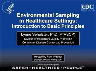 environmental sampling in healthcare settings: introduction to basic principles