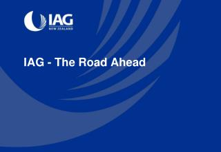 IAG  - The Road Ahead