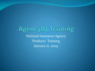AgencyIQ  Training
