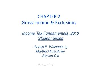 CHAPTER 2 Gross Income & Exclusions