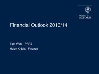 Financial Outlook 2013/14