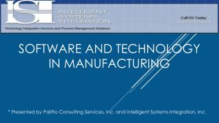 Software and Technology in Manufacturing