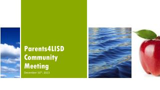 Parents4LISD Community Meeting