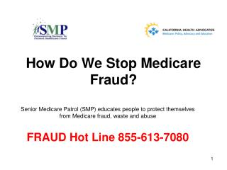 How Do We Stop Medicare Fraud?