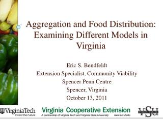 Aggregation and Food Distribution: Examining Different Models in Virginia