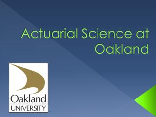 Actuarial Science at Oakland