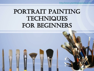 portrait painting - simple techniques for beginners