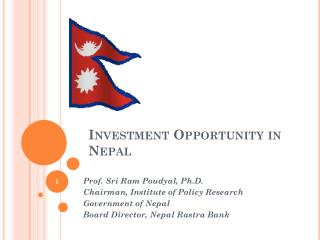 Investment Opportunity in Nepal
