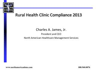 Rural Health Clinic Compliance 2013