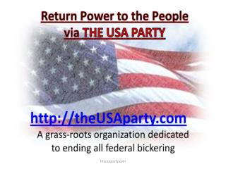 The USA Party http://theusaparty.com