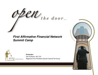First Affirmative Financial Network Summit Camp