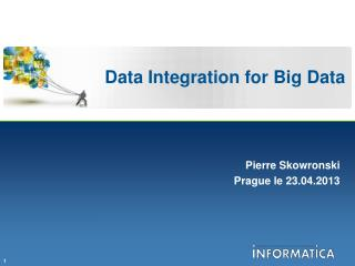 Data Integration for Big Data