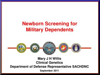 Newborn Screening for Military Dependents