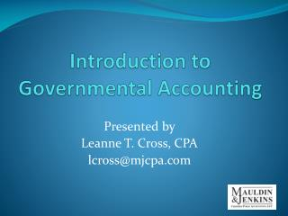 Introduction to Governmental Accounting