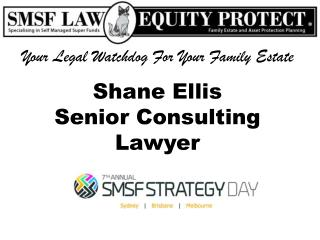 Shane  E llis Senior Consulting Lawyer
