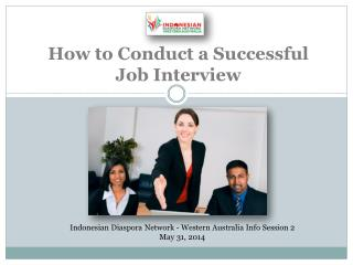 How to Conduct a S uccessful Job Interview