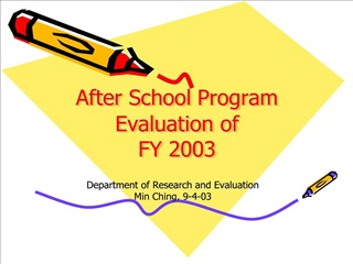 after school program evaluation of  fy 2003