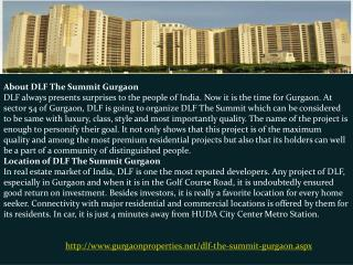 DLF The Summit in Gurgaon