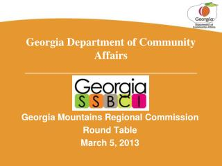 Georgia Department of Community Affairs _______________________________