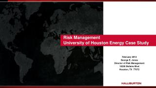 Risk Management University of Houston Energy Case Study