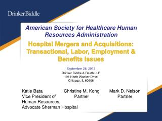 American Society for Healthcare Human Resources  Administration