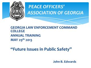 PEACE OFFICERS'        A          ASSOCIATION OF GEORGIA
