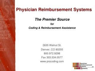 Physician Reimbursement Systems