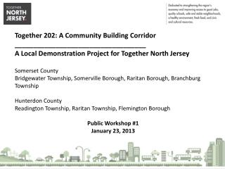 Together 202: A Community Building Corridor ___________________________________ A  Local Demonstration Project for Toget