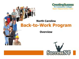 North Carolina  Back-to-Work Program Overview