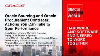 Oracle Sourcing and Oracle Procurement Contracts: Actions You Can Take to Spur Performance