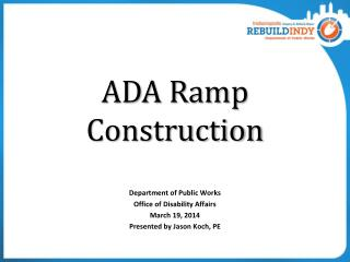 ADA Ramp Construction