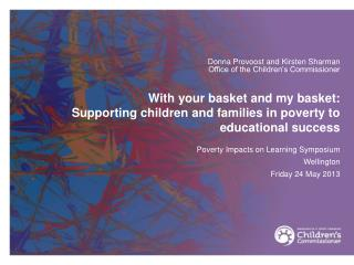 With your basket and my basket:  Supporting children and families in poverty to educational success