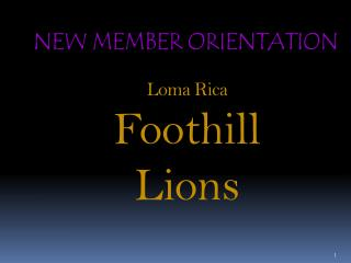 Loma Rica  Foothill Lions