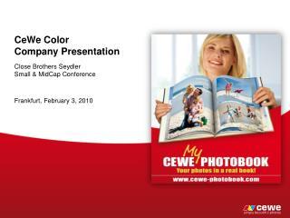 CeWe  Color Company  Presentation