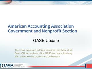 American Accounting Association Government and Nonprofit Section