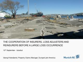 The Cooperation of insurers, loss adjusters and reinsurers before a large loss occurrence