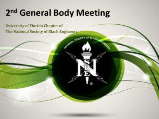 2 nd  General Body Meeting