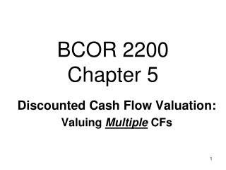 BCOR 2200 Chapter  5