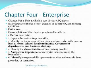 Chapter Four - Enterprise