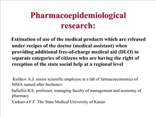 pharmacoepidemiological research: