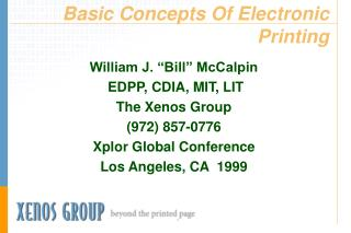 Basic Concepts Of Electronic Printing