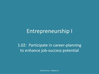 Entrepreneurship I