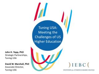 Tuning USA: Meeting the Challenges of US Higher Education