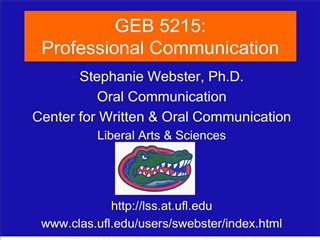 geb 5215: professional communication