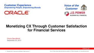 Monetizing CX Through Customer Satisfaction for Financial Services