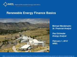 Renewable Energy Finance  Basics