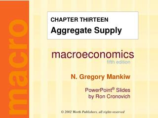CHAPTER THIRTEEN Aggregate Supply